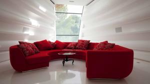 Sofa rouge